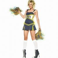 Wholesale Cheerleader Costumes, Gives Cheer Costumes, Includes Skirt and Pom from china suppliers