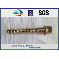 Wholesale Q235 35# Railway Sleeper Screws Square Head Coach Screw Spike from china suppliers