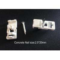 Wholesale Fiber Optic Accessories ABS Drop Wire Cable Clip With Concrete Nail from china suppliers