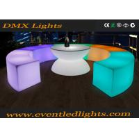 Wholesale Battery Source Illuminated Light Round LED Bar Table Rgb Color Changing CE Passed from china suppliers
