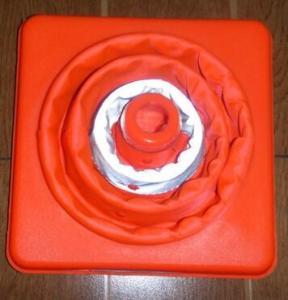 Quality Portable telescopic traffic cone  folding traffic cone for sale