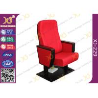 Wholesale Wooden Armrest Box Structure Conference Hall Chairs With Book Net And Cup Holder from china suppliers
