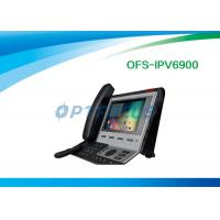 Quality Black 4 SIP Poe IP Video Phone Broadcom Wifi Chip for SysLog / Web Capture 0.99kg for sale