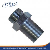 Wholesale 6B Forged hydraulic fitting BSP MALE 60 degree seat bulkhead adapter from china suppliers