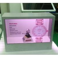 Wholesale Ads Transparent LCD Display Box Cake , Sandwich Interactive Exhibit Showcase from china suppliers