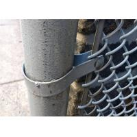 Wholesale chain link wire mesh fence 50mm x 50mm hot dipped galvanized chain wire tension band and clamp from china suppliers