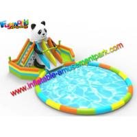 Wholesale EN14960 Inflatable Pool Slide Water Parks Equipment For Beach Activities from china suppliers