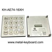 Wholesale 4x4 Layout Waterproof Industrial PC Keyboard Matrix / USB Port For Kiosk / Fuel / Gas Station from china suppliers