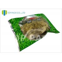 Wholesale Glossy Green Printed Laminated Pouches 3 Side Seal Aluminm Foil Clear Window from china suppliers