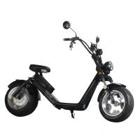 Wholesale 40KM / H Black Color 2 Wheel Electric Scooter Citycoco Fat Tire Strong Construction from china suppliers
