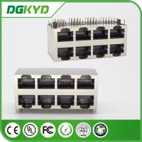 Wholesale China factory multiport rj45 ethernet connector, 2x4 metal shielded from china suppliers