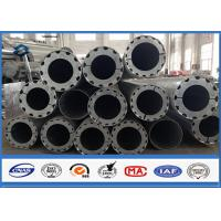 Wholesale Hot Roll Steel Metal Utility Poles , 345Mpa Min Yield Stress Electrical Poles And Towers from china suppliers