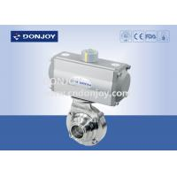 Wholesale DN50 Horizontal Actuator Pneumatic  butterfly ball valve  with clamped connection from china suppliers