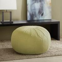 Quality Round Leather Folding Storage Ottoman , Round Coffee Table OttomanFor Sun Room for sale