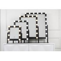 Wholesale 50x60cm Big Size 18pcs Led MakeUp Mirror With Time Function Optional from china suppliers