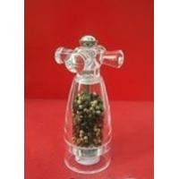 Wholesale Family Mini Grinder With Glass Handle Stainless Steel Pepper Mill from china suppliers