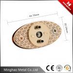 44mm oval zinc alloy light gold metal bag twist lock with diamond decoration