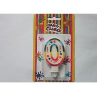 Wholesale Rainbow Novelty Number Birthday Candles Decorative Number Zero Candle for Party from china suppliers