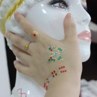 Wholesale Metallic Jewelry Rhinestone Face Tattoo Stickers Eco Friendly Gorgeous from china suppliers
