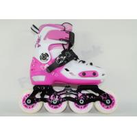 Wholesale Pink Girls Inline Roller Skates CNC Aluminum Chassis Breathable Mesh Uppers Rollerblades from china suppliers