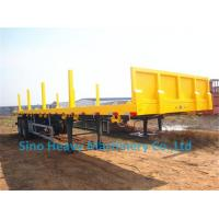 Wholesale Flatbed Transport Semi Trailer Trucks 2 Axle , Four Double Container Trailer from china suppliers