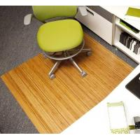 Wholesale Rectangular Wood PVC Low Pile Carpet Chair Mat / Office Floor Protection Mats from china suppliers