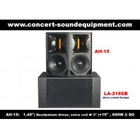 "Quality 600W Concert Sound Equipment , 1.4"" + 15"" Full Range Speaker For Show , Conference , Living Event And DJ for sale"