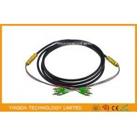 Wholesale FC / APC 4 Core Optical Fiber Pigtails Patch Cord Cable Waterproof Black , Length Customized from china suppliers