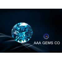 Wholesale Blue 8mm Moissanite Gemstones Excellent Grade Forever Brilliant Moissanite from china suppliers