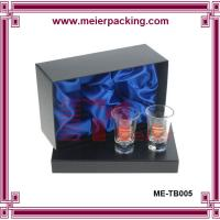 Wholesale Paper packaging box for glass cup, velvet inner cardboard cup box ME-TB005 from china suppliers