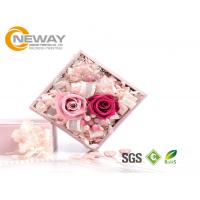 Wholesale Flower Gift Box , Pink Rose Waterproof Square flower paper box for Saint Valentine's Day from china suppliers