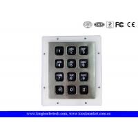 Wholesale Rugged IP65 Waterproof Backlit Metal Numeric Keypad For Low-Lit Environment In 3x4 Matrix from china suppliers
