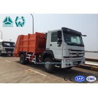 Wholesale 6 - 12 CBM HOWO 4 X 2 Garbage Compactor Trucks With Hydraulic Cylinder , 10 Forwards Gearbox from china suppliers