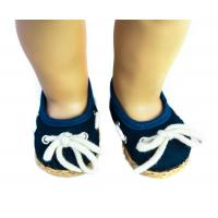 Wholesale Navy Muslin Doll Shoes Long Shoe Lace American Girl Dolls Shoes from china suppliers