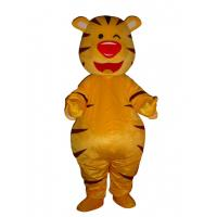 Wholesale Adult Tiger yellow cute mascot costume animal Dluxe yellow tiger mascot costume from china suppliers