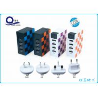 Wholesale Travel Use PC / ABS Material Multi Port USB Charger 4 USB Output And LED Display from china suppliers