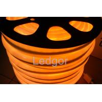 Quality 12V 24v 110v 220v UV proof waterproof Orange Led Neon Flex Light for sale