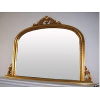 Wholesale wooden golden overmantel mirror,2013 hot wood framed wall mirror from china suppliers