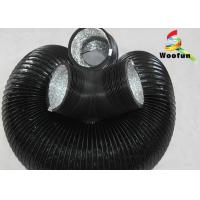 Wholesale Stretchable Flame Resistant Round Flexible Duct , Aluminum Foil PVC Flexible Ducting from china suppliers