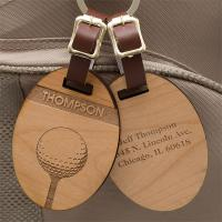 Wholesale Custom Wood engraved clothes luggage hang tag from china suppliers