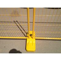 Wholesale Electrostatic Powder Painted 80 microns 2100mm x 2400mm Yellow Color Temporary Fence for sale brisbane and perth AS4687 from china suppliers