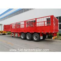 Wholesale 3 axles cargo side fance semi trailer for animal transportation from china suppliers