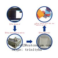 Wholesale chipboard grey board gift box making machine brief introduction from china suppliers