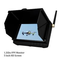 Wholesale 1.2Ghz Ground Station HD Wireless 5 inch FPV Monitor / Receiver Support 32GB TF Card from china suppliers