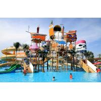 Wholesale Colorful Outdoor Water Parks with Fiberglass Water Slides 29 x 27m Space from china suppliers