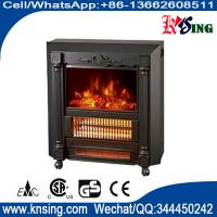 Quality Mobile Fireplaces electric heater fire log electric stove NDY-20 flame effect room Heater Quartz tube infrared wheels for sale