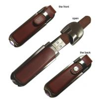 Wholesale Stylish Metal and Leather USB Stick Flash Drive for Windows 7 System hi-speed samsung chip from china suppliers