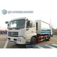 China Dongfeng 6 Speed Rear Load Garbage Trucks 2 Axle Truck With 3 Passenger on sale