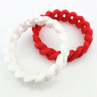 Wholesale Durable Pure Color Customized Silicone Bracelets , Power Balance Bracelet from china suppliers