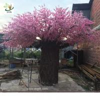 Wholesale UVG huge fake cherry blossom trees in fiberglass trunk for photography backdrop decoration CHR162 from china suppliers
